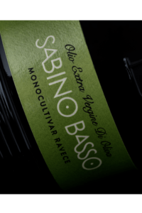 Olio Extravergine di Oliva Selezione Monocultivar Ravece etichetta